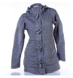Vállán és alján steppelt mintás, bélelt, kapucnis női kabát (PK-8501H)