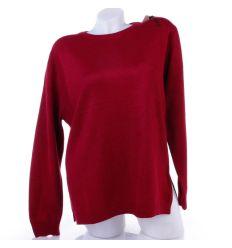 Moletti, egyszínű kerek-nyakú női kötött pulóver, felső (TBX6765)