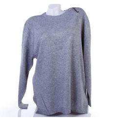 Moletti, anyagában mintás nyakú, kötött női pulóver, felső (TBX6760)