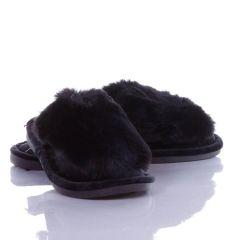 Pihe-puha szőrmés, kis füles női gumi talpú papucs (LF-015)