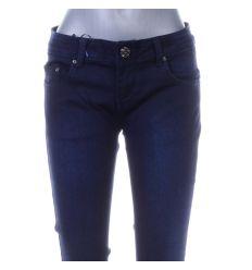 Csőszárú, zsebénél kis szíves, rugalmas női farmer nadrág (DM9236Q-1)