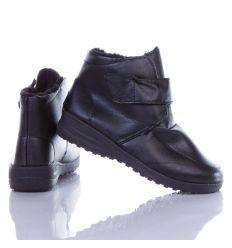 Bélelt, tépőzáras, magasszárú női cipő (A425)