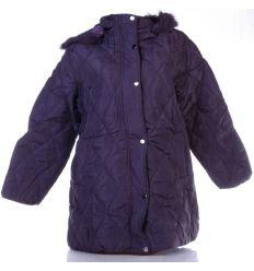 Anyagában mintás, belül szőrme béléses, kapucnis női moletti kabát (Z938)