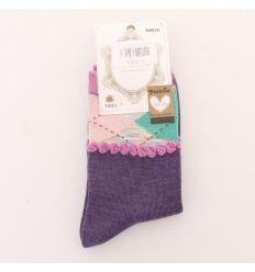 Női pamut zokni szivárvány rombusz (N8826)