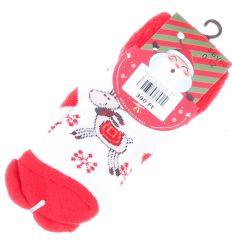 Vegyes téli mintás, bébi vastagabb pamut zokni (SBV68)
