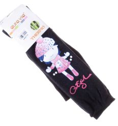 Vegyes nyomott mintás, belül szőrmés, bambuszos anyagú lány termo leggings, harisnya (GA087-1)