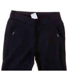 Egyszínű, zsebénél kis bilétás, belül szőrmés női leggings, nadrág (J-229)