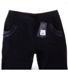 Moletti, belül poláros, zsebénél vegyes horgolt mintás, női nadrág, leggings (9058)