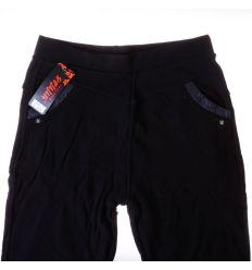 Zsebénél bőrbetétes, belül szőrmés, rugalmas anyagú női moletti leggings, nadrág (95-7)