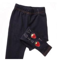 Bundás epres köves farmeres lány leggings (A-774)
