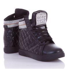 Steppelt mintás, szárán strasszköves, rejtett éksarkú női műbőr cipő (L62870,L62871)