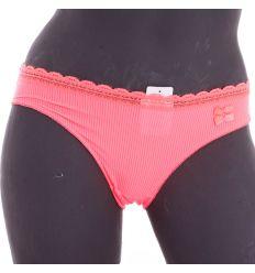 Bordázott mintás, masnis, rugalmas, selymes anyagú női normál alsó (21101)