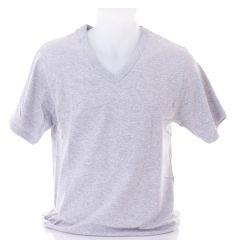 Rugalmas pamut, rövid ujjú, v-nyakú férfi felső, póló (Findroad H6037)