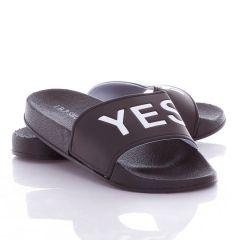 YES/NO feliratos női, kamasz gumi papucs (806-1)