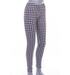 Vegyes mintás, puha, rugalmas anyagú, gumis női leggings (NA605)