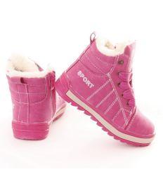 Bundás macis nyelvű fűzős-cipzáros lány magasszárú cipő (B34-2, B34-1)
